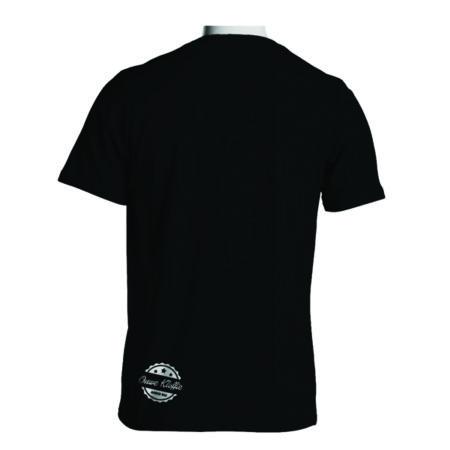 Ouwe Kloffie t-shirt achterkant zwart met witte bedrukking