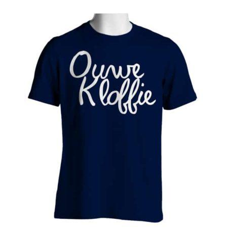 Voorkant Ouwe Kloffie Marine Blauw T-shirt Heren