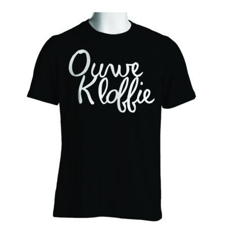 Ouwe Kloffie T-shirt zwart met witte bedrukking