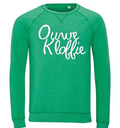 Ouwe Kloffie trui groen wit